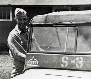 Henry at the 23rd Marine's base camp in Maui, 1945