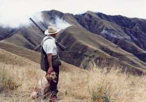 Henry Campbell hunting in Eastern Washington
