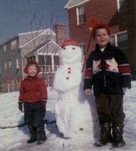 Christmas snowman 1960