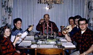Christmas dinner, 1966