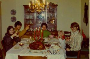 Christmas dinner 1971