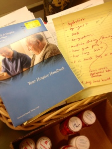 hospice notes and pills
