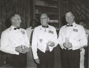 (Then) Lt. Col Henry S. Campbell, Gen. Pate and Gen. Leonard Chapman
