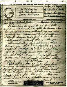 1945 V mail