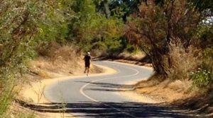 Runner on the bike trail
