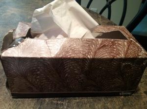 brown kleenex box