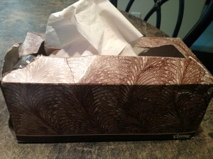 brown kleenex box